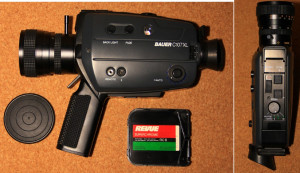 Aparat filmat Super 8 mm BAUER C107XL. Made by Robert Bosch. Vintage.