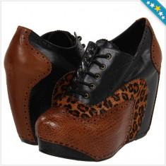 Pantofi CHINESE LAUNDRY - Pantofi Dama, Femei - Piele Naturala - 100% AUTENTIC - Pantof dama Chinese Laundry, Culoare: Maro, Marime: 36, 38, Cu platforma