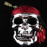 Masca pirat argintie, noi, marime 20x16 cm, plastic!, Argintiu