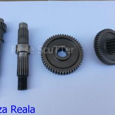 Set Pinioane - Pinion Reductor Scuter Chinezesc Gy6 4T - 50cc - 80cc