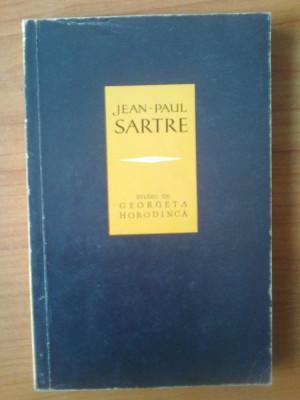 n5  Jean-Paul Sartre, studiu - Georgeta Horodinca foto