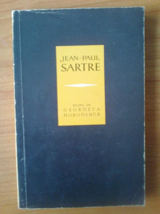n5  Jean-Paul Sartre, studiu - Georgeta Horodinca