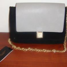 Geanta Zara piele- Noua - Geanta Dama Zara, Geanta de umar, Negru, Medie