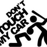 STICKER - DON'T TOUCH MY CAR / COD - STANCE_096 / ORICE CULOARE / ORICE STICKER LA COMANDA