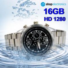 Cumpara ieftin Ceas Business cu Camera Spion HD1280, Memorie 16GB, SPY DVR, Foto 3264x2448, 5MP