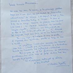 Scrisoare a diplomatului, profesorului si scriitorului Valentin Lipatti - Autograf