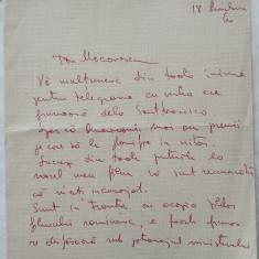 Scrisoare scrisa olograf si semnata de Ion Popescu Gopo , 1960