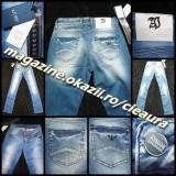 Blugi dama Armani Jeans GEN FIRMA ARMANI PRESPALATI DREPTI TALIE JOASA 100% BUMBAC CRISTALE, Marime: 27, 29, Culoare: Albastru, Lungi