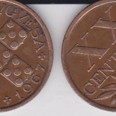 PORTUGALIA XX CENTAVOS 1967 KM# 584, Europa