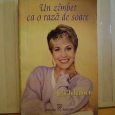 IRIS JOHANSEN - UN ZIMBET CA O RAZA DE SOARE - ROMAN DE DRAGOSTE - EDITURA MIRON - 1995 - 252 PAG.