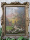 Colt de gradina - Marselek, tablou vechi / pictura veche