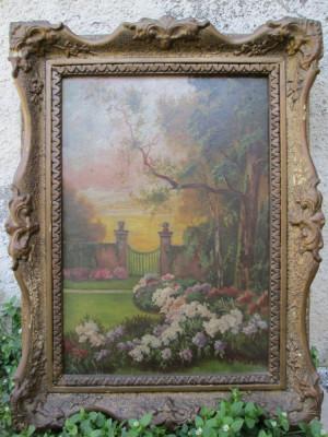 Colt de gradina - Marselek, tablou vechi / pictura veche foto