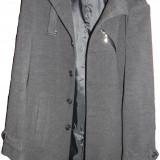 Haină bărbaţi 3 sferturi noua - Palton barbati, Marime: L, Culoare: Gri, Gri