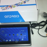 Tableta Android 1.5Gz 7 inch (18cm) Produs Nou Sigilat Negru, Wi-Fi + 3G