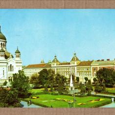 CLUJ-NAPOCA PIATA VICTORIEI 1977 - Carte Postala Transilvania dupa 1918, Circulata