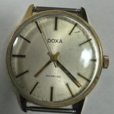 DOXA - VINTAGE - CEAS BARBATESC DE COLECTIE - ELVETIAN - ANII 1960 - 70 - STARE DE FUNCTIONARE - DIAMETRUL 34 MM - Ceas de mana