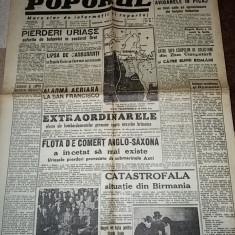 Ziarul poporul 2 mai 1942-pierderiuriase suferite de bolsevici, stiri de pe front