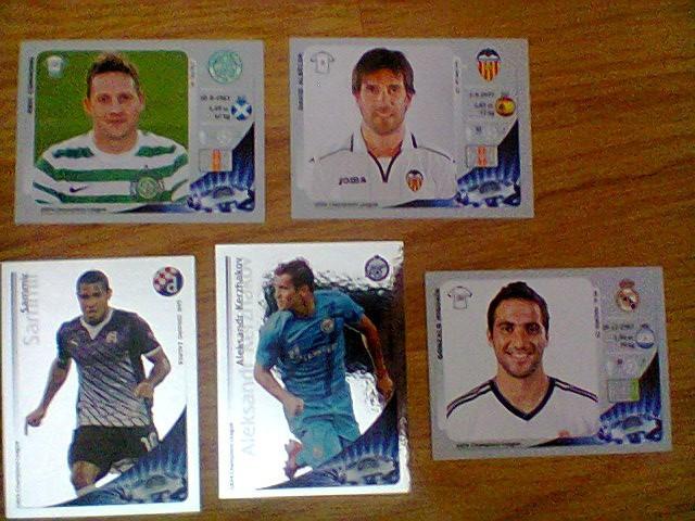 Panini - Lot 5 stikere (Champions League 2012-2013)