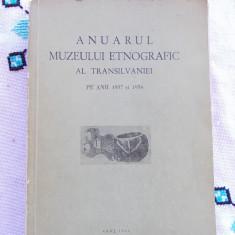 ANUARUL MUZEULUI ETNOGRAFIC AL TRANSILVANIEI ANII 1957-1958 . - Carte folclor