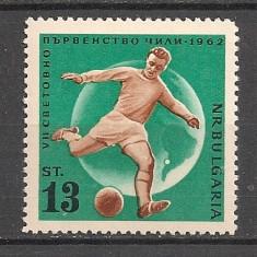 Bulgaria.1962 C.M. de fotbal CHILE  dantelat  SB.154, Nestampilat