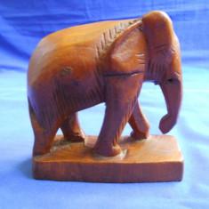 STATUETA ELEFANT DIN LEMN - CULOARE MARO INCHIS - Sculptura