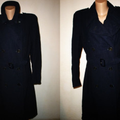 Palton /pardesiu Great Coat vintage - Palton dama, Marime: M/L, Culoare: Albastru, Lana