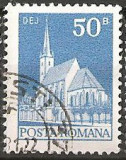 TIMBRE 103b, ROMANIA, 1973, BISERICA REFORMATA DEJ, 50 BANI, STAMPILAT, FARA GUMA; TEMA : ARTA, BISERICA, MONUMENT, ARHITECTURA , CONSTRUCTIE