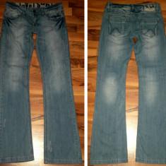 Pantaloni jeans SUBLEVEL L cred ca sunt de dama moderni casual transport inclus - Pantaloni barbati, Marime: L, Culoare: Bleu, L, Lungi