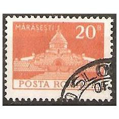 TIMBRE 103j, ROMANIA, MONUMENTE, 1973, MAUSOLEUL EROILOR MARASESTI, 20 BANI, STAMPILAT; TEMA : ARTA, MONUMENT, ARHITECTURA, CONSTRUCTIE, EROU, EROI - Timbre Romania