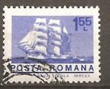 TIMBRE 92, ROMANIA, 1974, BRICUL MIRCEA, 1,55 LEI, STAMPILAT, FARA GUMA; VAPOR, BRIC, NAVA SCOALA, MARINA, FLOTA, Transporturi