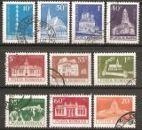 TIMBRE 103, ROMANIA, 1973, MONUMENTE , SERIE COMPLETA, STAMPILATA, ARHITECTURA, Arta, Stampilat