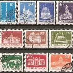 TIMBRE 103, ROMANIA, 1973, MONUMENTE, SERIE COMPLETA, STAMPILATA, TEMATICA : ARHITECTURA, ARTA, CONSTRUCTII - Timbre Romania