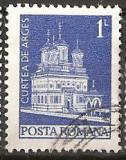 TIMBRE 103c, ROMANIA, MONUMENTE,1973, MANASTIREA CURTEA DE ARGES, 1 LEU, STAMPILAT, FARA; TEMA : ARTA, BISERICA, MONUMENT, ARHITECTURA , REGE