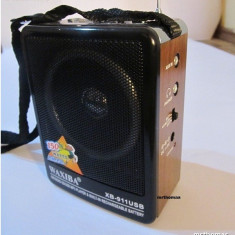 BOXA Waxiba cu MP3 player si RADIO FM SLOT USB / CARD SD - Produs Nou