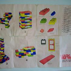 Joc vechi tip LEGO - VARIANT - Joc de constructii, perioada anilor ' 80 - Set de constructie, 8-10 ani, Unisex
