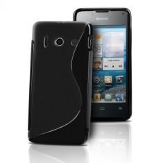 Husa HUAWEI Ascend Y300 TPU S-LINE Black - Husa Telefon Huawei, Negru, Gel TPU, Fara snur, Carcasa