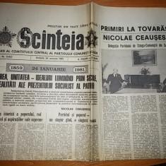 Ziarul scanteia 24 ianuarie 1981 ( 122 de ani de la unirea lui cuza )