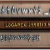 sablon litere 3,5 mm Logarex, pentru tras in tuş