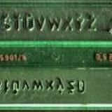 şablon litere 5 mm Logarex, pentru tras in tuş
