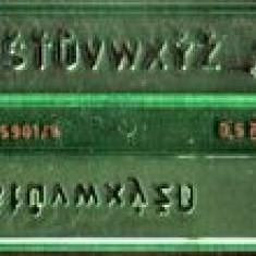 Sablon litere 5 mm Logarex, pentru tras in tuş