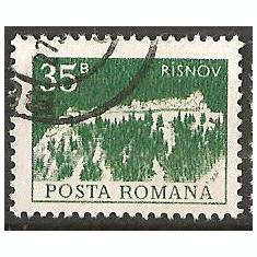 TIMBRE 103h, ROMANIA, MONUMENTE, 1973, CETATEA TARANEASCA RASNOV, 35 BANI, STAMPILAT; TEMA : ARTA, MONUMENT, ARHITECTURA, CONSTRUCTIE - Timbre Romania