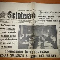 Ziarul scanteia 24 noiembrie 1976-convorbirile dintre ceausescu si brejnev