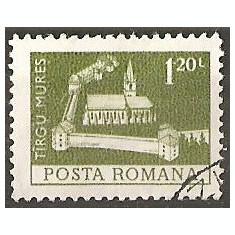 TIMBRE 103g, ROMANIA, MONUMENTE, 1973, CETATEA DIN TARGU MURES, 1, 20 LEI, STAMPILAT; TEMA : ARTA, MONUMENT, ARHITECTURA, CONSTRUCTIE - Timbre Romania