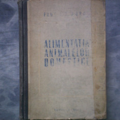 ALIMENTATIA ANIMALELOR DOMESTICE I S POPOV C3 117 - Carte Zoologie
