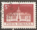 TIMBRE 103e, ROMANIA, MONUMENTE,1973, PALATUL CONSILIULUI POPULAR DIN CRAIOVA, 5 BANI, STAMPILAT; TEMA : ARTA, MONUMENT, ARHITECTURA , CONSTRUCTIE