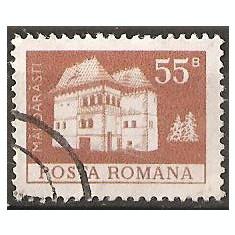TIMBRE 103f, ROMANIA, MONUMENTE, 1973, CULA DIN MALDARASTI, 55 BANI, STAMPILAT; TEMA : ARTA, MONUMENT, ARHITECTURA, CONSTRUCTIE, MALDARESTI - Timbre Romania