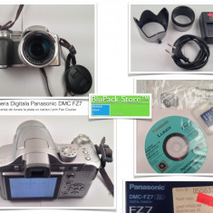 Camera foto digitala bridge Panasonic DMC - FZ7 folosita la cutie cu toate accesoriile si card 2 GB stare buna Garantia de Livrare - Aparat Foto compact Panasonic