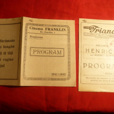 2 Programe Cinema Franklin si Trianon -anii '40 - Afis