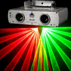 Laser profesional SHINP DL22 260 mW . LASER DISCO PUTERE MARE, ROSU+VERDE.DMX512, SENZOR DUPA MUZICA. - Laser lumini club