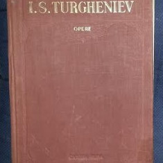 I. S. Turgheniev OPERE vol. 4 Fum * Destelenire Ed. Cartea Rusa 1955 cartonata - Carte de colectie